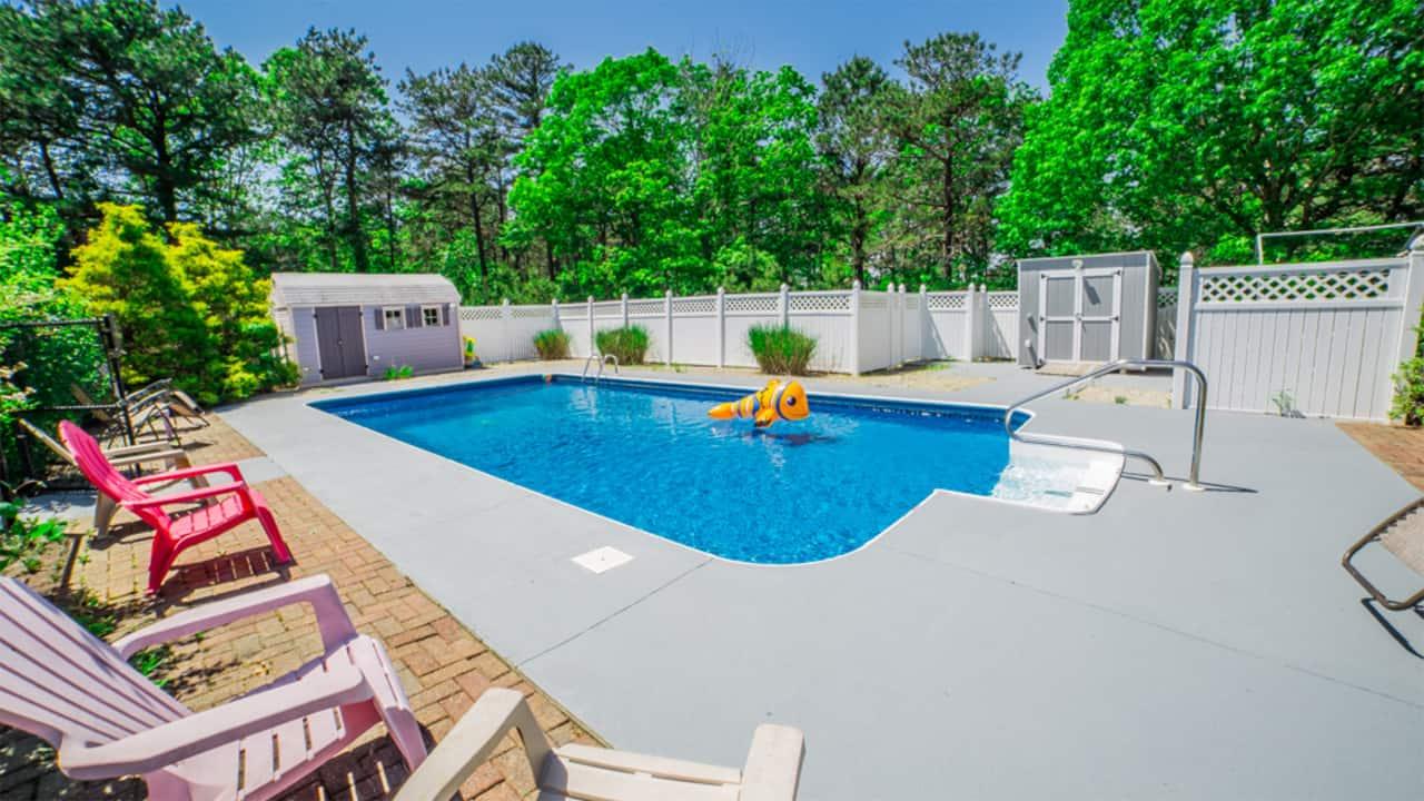 114 Dover Road Mashpee MA pool photo